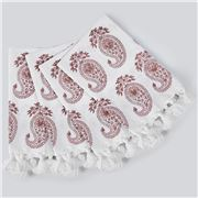 Cloth & Co - Paisley Napkin Set Dusty Rose 4pce