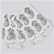 Cloth & Co - Paisley Napkin Set Sage 4pce