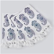 Cloth & Co - Paisley Napkin Set Teal 4pce