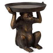 OneWorld - Sitting Monkey Holding A Plate