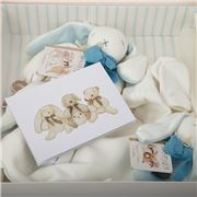Maud N Lil - Luxury Organic Gift Box Set Blue/White 6pce