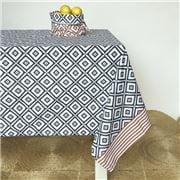 Carnival - Mosaic Print Tablecloth Indigo 150x250cm