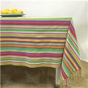 Carnival - Stripe Tablecloth Multi 150x250cm