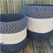 Carnival - Denim Multi Cotton Rag Basket Set 2pce