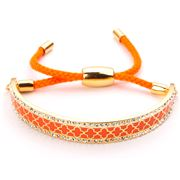 Halcyon Days - Agama Sparkle Orange & Gold Friendship Bangle