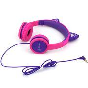 Cactus - Cat Ear Light-Up Kids Headphones Pink/Purple