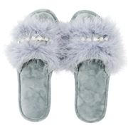 AT - Glam Slide Slippers Grey Medium/Large