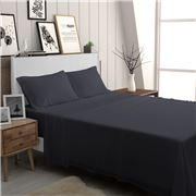 Bambi - Eco Touch Sheet Set Graphite Mega Queen 4pce
