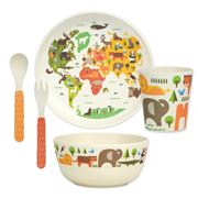 Petitcollage - Bamboo Dinnerware Set Our World 5pce