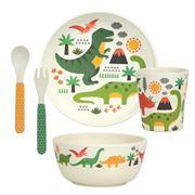 Petitcollage - Bamboo Dinnerware Set Dinosaurs 5pce