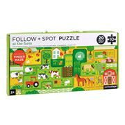 Petitcollage - Follow & Spot Puzzle At The Farm 10pce