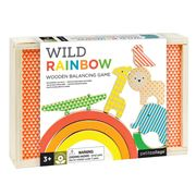 Petitcollage - Wooden Balancing Game Wild Rainbow 10pce