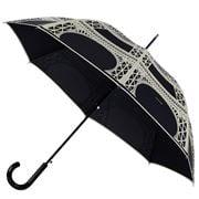 Guy de Jean - Black & Cream Eiffel Long Umbrella