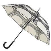 Guy de Jean - Cream & Black Eiffel Long Umbrella