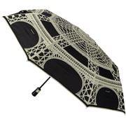Guy de Jean - Black & Cream Eiffel Auto Folding Umbrella