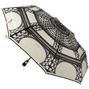 Guy de Jean - Cream & Black Eiffel Auto Folding Umbrella