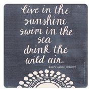 Thirstystone - Emerson Sun Quote Coaster