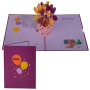 Colorpop - Happy Birthday Balloon Box Greeting Card Purple