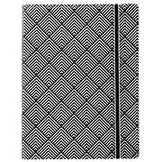 Filofax - Impressions A5 Refillable N/Book Black/White Deco