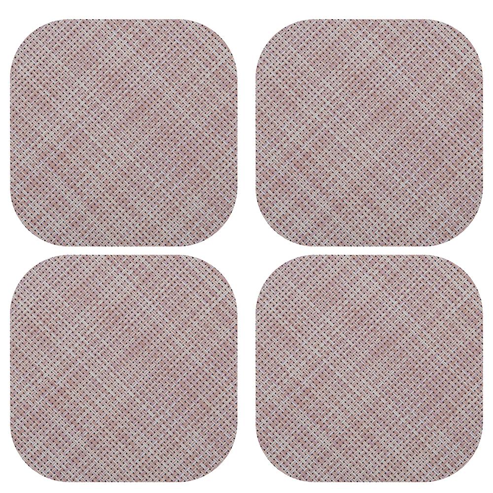 NEW-Chilewich-Mini-Basketweave-Coaster-Set-Blush-4pce