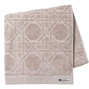 Florence Broadhurst - Octagonal Lattice Bath Mat Pebble
