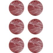 Ary Home - Japanese Landscape Red Earth Coaster Set 6pce