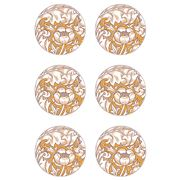 Ary Home - Bachelor's Button Coaster Set 6pce