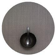 Chilewich - Basketweave Round Placemat Titanium 38cm