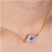 Halcyon Days - Evil Eye Pave Necklace