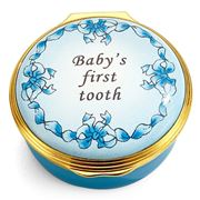 Halcyon Days - Baby's First Tooth Enamel Box Blue