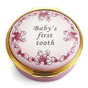 Halcyon Days - Baby's First Tooth Enamel Box Girl