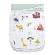Aden and Anais - Around The World Classic Snap Bib Set 3pce