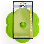 RSVP - Silicone Flower Sink Stopper Green