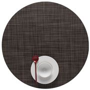 Chilewich - Mini Basketweave Round Placemat Dark Walnut