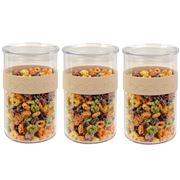 Bodum - Presso Storage Jar Set Pale Pebble 1L 3pce