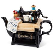 The Teapottery - Sewing Machine Teapot Black Large