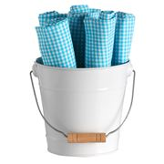 Retro Kitchen - Bucket of Napkins Blue 7pce