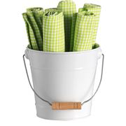 Retro Kitchen - Bucket of Napkins Green 7pce