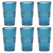 Retro Kitchen - Glass Tumbler Set Navy 6pce