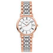 Longines - Presence Wht Dial Rose Gold & S/Steel Watch 30mm