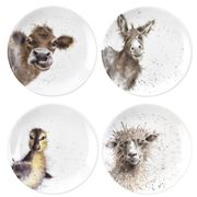 Royal Worcester - Wrendale Designs Coupe Plate Set 4pce