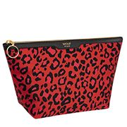 Wouf - Satin Makeup Bag Red Leopard