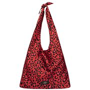 Wouf -  Satin Tote Bag Red Leopard