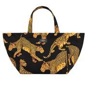 Wouf - XL Tote Bag Black Leopard