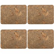 Peter's - Rectangular Cork Placemat Set 4pce