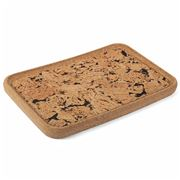 Peter's - Rectangular Cork Black Fjord Tray