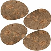Peter's - Cork Placemat Set Pebble 4pce