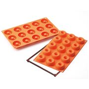 Silikomart - Small Donuts Silicone Mould Orange 15 Cup