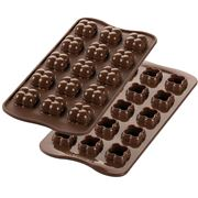Silikomart - Choco Game Silicone Mould Brown