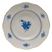 Herend - Chinese Bouquet Blue Rim AB Soup Plate